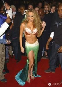 「花蝴蝶」鑲鑽繃帶引領潮流 發胖瑪麗亞凱莉顯瘦穿搭
