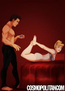 當迪士尼王子公主碰上《格雷的五十道陰影》 臉紅氣喘也要看下去...