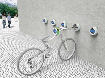 隱藏式牆面單車架,不須攜帶大鎖也不佔據任何公共空間!
