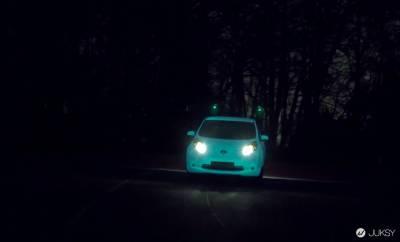 為了保障你的夜行安全,Nissan帶來一款夜光汽車