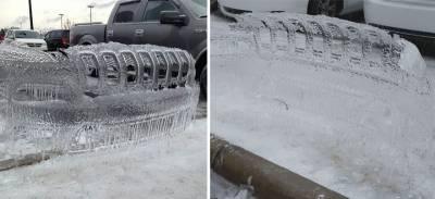 驚奇!!停車場驚見「吉普車」脫殼??原來是這樣形成的…