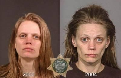 吸毒前後,一年就讓你判若兩人!