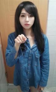 韓網友瘋傳「迷濛正妹」 沒想到人肉後卻是....