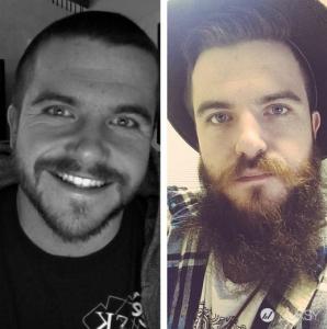 這些 12 張對比照證明 長相平庸的男生都能靠留鬍子翻身成型男!