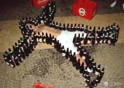 酒醉後竟然也能成為「藝術品」?看完後我也醉了!