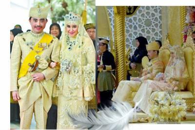 這才叫炫富!汶萊王子婚宴極盡奢華!鑽石做捧花!禮服鑲黃金…