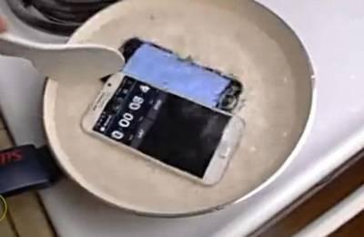 用沸騰的水煮開三星S6與蘋果i6...先陣亡的是...