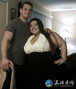 美國女子400斤男友卻爆帥