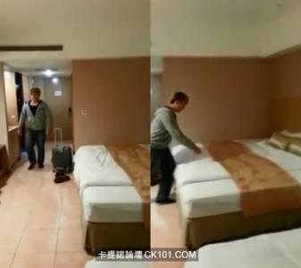 男子見到超大雙人床 一撲上去結果竟然....