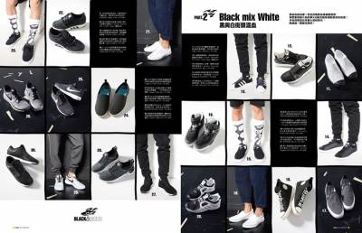 BLACK WHITE ON FIRE潮流極注目!黑白足履100發!