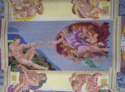 棉花糖不是只能吃!女藝術用萬顆棉花糖仿製6米長壁畫