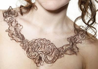 頭髮竟然能做項鍊??神人技巧!用髮絲編出超美流線型項鍊