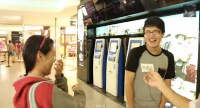 街頭訪問台灣男生的長度,他們的回答竟讓身邊的女友笑瘋了!!!