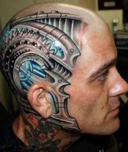 太囧了!超怪異頭部紋身