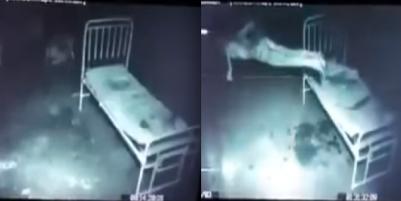 精神病院實拍連保全都不敢靠近的病患房間!那個人本來躺在床上一直發抖,沒想到下一秒竟然....