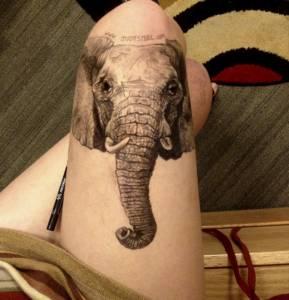 在腿上畫畫是否太神奇