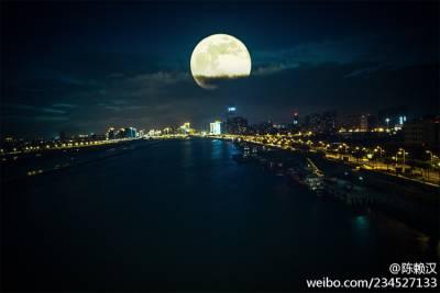 世界各地超級月亮美景