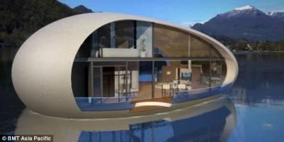 設計師造蛋形生態房可浮於水面