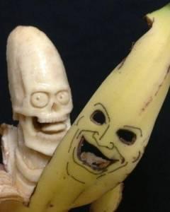 香蕉雕刻師:與時間賽跑 成品敗品都吃掉