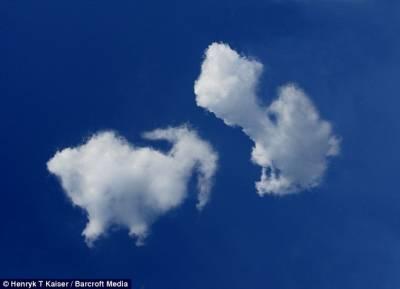 波蘭出現奇特雲朵造型各異