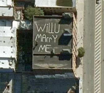 google地圖上的七個愛情宣言