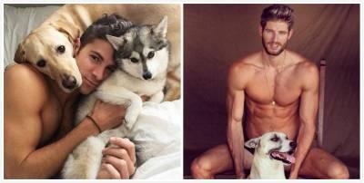 太養眼啦!絕對讓你臉紅心跳的IG帳號~~9張帥哥X寵物的親密互動攝影,快把狗狗移開啦!